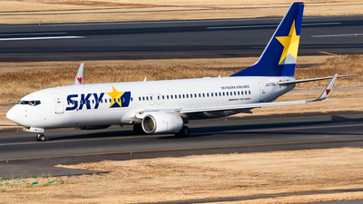 A picture of JA73NL - Boeing 7378HX - Skymark Airlines - © H.Hayashi