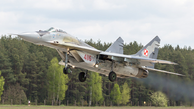 4116 - Mikoyan-Gurevich MiG-29A Fulcrum A - Poland - Air Force