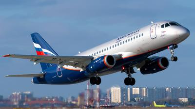 A picture of RA89124 - Sukhoi Superjet 10095B - Aeroflot - © Alexander Lebedev