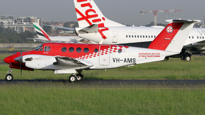 VH-AMS - Beechcraft B200 Super King Air - Ambulance Service of NSW (RFDS)