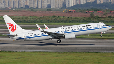 A picture of B6496 - Boeing 73789L - Air China - © YIJING HOU