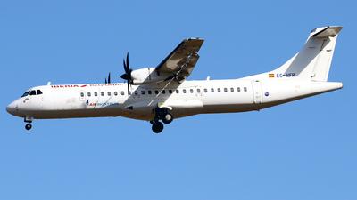 A picture of ECNFR - ATR 72600 - Iberia - © Javier Rodriguez - Amics de Son Sant Joan