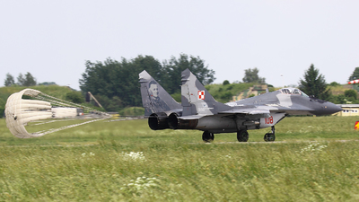 108 - Mikoyan-Gurevich MiG-29A Fulcrum - Poland - Air Force