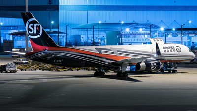 A picture of B20EF - Boeing 757236(PCF) - SF Airlines - © ZGGG RWY01