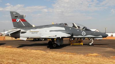 A27-17 - British Aerospace Hawk Mk.127 Lead-In Fighter - Australia - Royal Australian Air Force (RAAF)