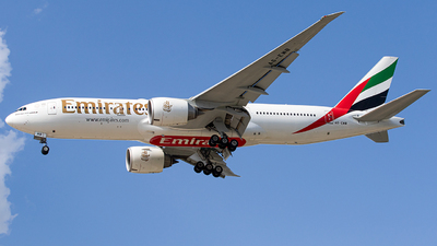 A picture of A6EWB - Boeing 77721H(LR) - Emirates - © Roger M