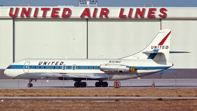 N1016U - Sud Aviation SE 210 Caravelle VIR - United Airlines