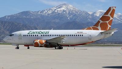 N615SC - Boeing 737-5Y0 - Zambezi Airlines