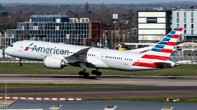 A picture of N801AC - Boeing 7878 Dreamliner - American Airlines - © Leo Sheng