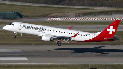 A picture of HBJVO - Embraer E190LR - Helvetic Airways - © Kurt Kolb