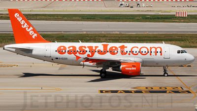 G-EZDS - Airbus A319-111 - easyJet
