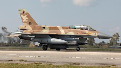 074 - General Dynamics F-16D Barak - Israel - Air Force