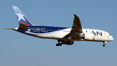 A picture of CCBBA - Boeing 7878 Dreamliner - LATAM Airlines - © Juan Guillermo Pacheco S.-