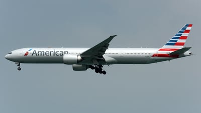 A picture of N717AN - Boeing 777323(ER) - American Airlines - © Alvin Ho - AHKGAP
