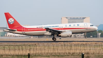 A picture of B6348 - Airbus A320232 - Sichuan Airlines - © Ricardo de Vries