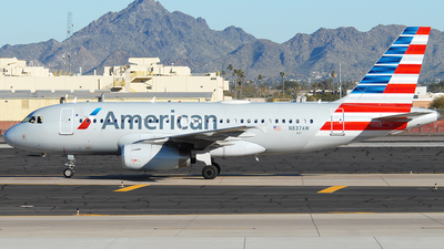 A picture of N837AW - Airbus A319132 - American Airlines - © Jason Whitebird