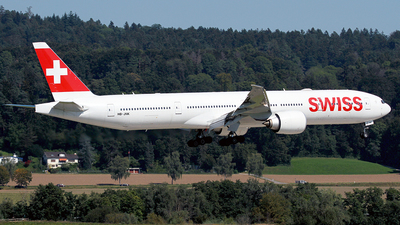 A picture of HBJNK - Boeing 777300(ER) - Swiss - © Cesar Prieto