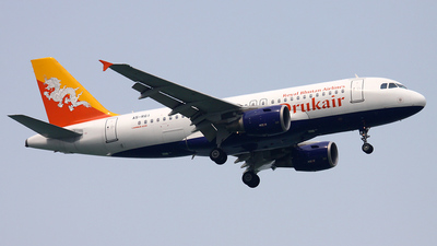 A5-RGI - Airbus A319-112 - Druk Air - Royal Bhutan Airlines