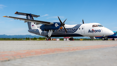 A picture of RA67253 - De Havilland Canada Dash 8300 - Aurora - © Alexander Dunaev