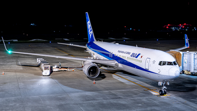 A picture of JA621A - Boeing 767381(ER) - All Nippon Airways - © kaiho