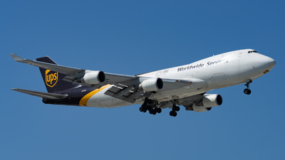 A picture of N574UP - Boeing 74744A(F) - UPS - © Haocheng Fang
