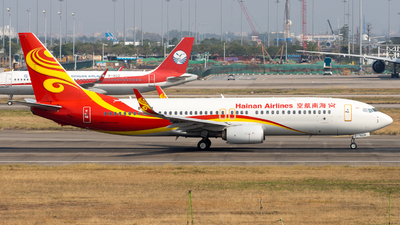 A picture of B5638 - Boeing 73784P - Hainan Airlines - © miCHAel TAN