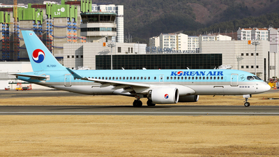 A picture of HL7201 - Airbus A220300 - Korean Air - © REDSOX