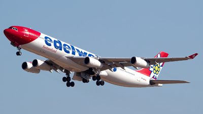 A picture of HBJMF - Airbus A340313 - Edelweiss Air - © Ismael Lopez - PMI Plane Spotting