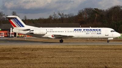 F-GPXI - Fokker 100 - Air France (Brit Air)