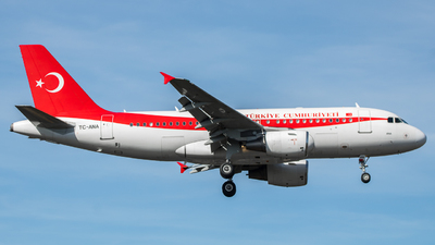 TC-ANA - Airbus A319-115(CJ) - Turkey - Government