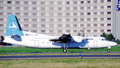 LX-LGD - Fokker 50 - Luxair - Luxembourg Airlines