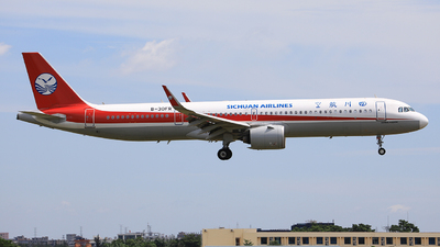 A picture of B30FR - Airbus A321271NX - Sichuan Airlines - © Nishinomiya