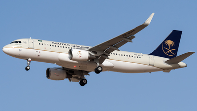 A picture of HZAS74 - Airbus A320214 - Saudia - © AirlinerSpotter