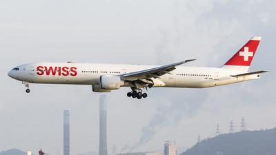 A picture of HBJNB - Boeing 7773DE(ER) - Swiss - © Michael Malone