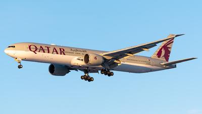A picture of A7BAL - Boeing 7773DZ(ER) - Qatar Airways - © Evan Dougherty