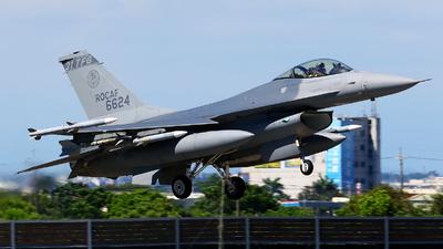 6624 - Lockheed Martin F-16AM Fighting Falcon - Taiwan - Air Force
