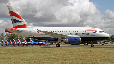 G-EUNB - Airbus A318-112 - British Airways