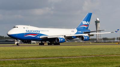 A picture of 4KSW888 - Boeing 7474R7(F) - Silk Way West Airlines - © TJDarmstadt