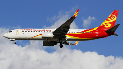 A picture of B5483 - Boeing 73784P - Hainan Airlines - © wangpaul