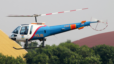 P-3014 - Enstrom 480B - Indonesia - Police