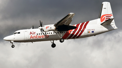 A picture of OOVLS - Fokker 50 - Air Antwerp - © Anna Zvereva