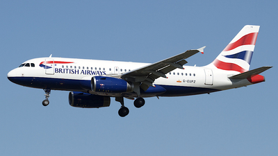 A picture of GEUPZ - Airbus A319131 - British Airways - © Peter Cook