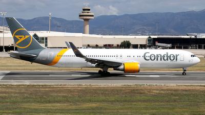 A picture of DABUP - Boeing 7673Q8(ER) - Condor - © Javier Rodriguez - Amics de Son Sant Joan