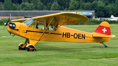 A picture of HBOEN - Piper J3C65 Cub - [11842] - © Mirko Bleuer