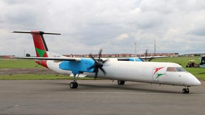A picture of 5YVVY - De Havilland Canada Dash 8400 PF - Bluebird Aviation - © James Ralph