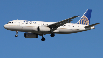 A picture of N444UA - Airbus A320232 - United Airlines - © James Bruno