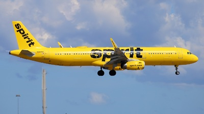A picture of N684NK - Airbus A321231 - Spirit Airlines - © Yi-Fan Wu