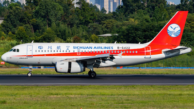 A picture of B6422 - Airbus A319133 - Sichuan Airlines - © Miaomiao