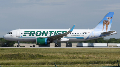 A picture of N348FR - Airbus A320251N - Frontier Airlines - © DJ Reed - OPShots Photo Team