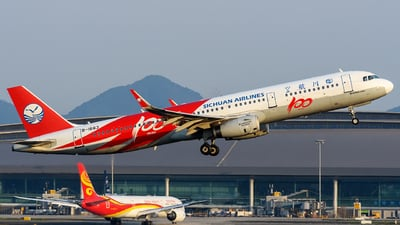 A picture of B1663 - Airbus A321231 - Sichuan Airlines - © Mr.Huang
